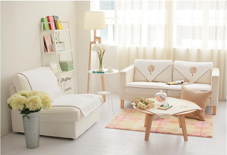 Aliexpress.com : Buy 110cm Width Cotton Sofa Towel Embroidery Sectinal Sofa  Cover Slip Resistant Single Seat Double Seat Sofa Slipcover Home Textile  From ...
