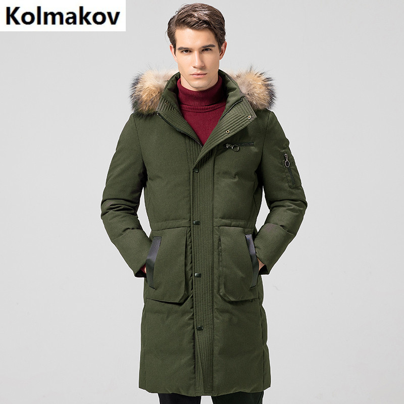 2017 winter Men's casual 80% white duck down down coats jackets Men's thick down cotton-padded jacket trench coat men sizeM-3XL цена