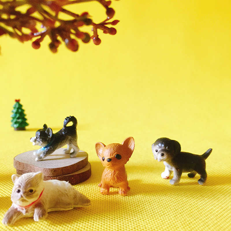New~/cute dog/cat/miniatures/lovely/fairy garden gnome/terrarium decoration/cute figurine/diy supplies/home decor/statue