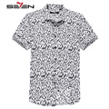 Seven7 Brand Men Slim Shirts Short Sleeve Casual Shirts Chinese Painting Graphic All Over Print Fashion Trendy Shirts 704A3654