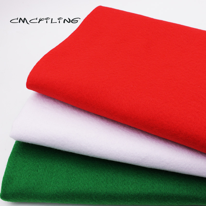 CMCYILING Christmas Series Soft Felt Fabric For Needlework DIY Sewing Dolls Crafts 1.2 MM Thickness Polyester Cloth 45CM*110CM