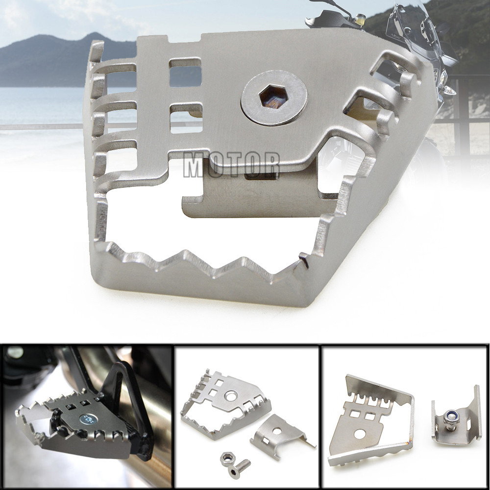 Motorcycle Silver Rear Foot Brake Lever Peda Peg Pad Extension Enlarge Extender For BMW F800GS F700GS F650GS F 800 700 650 GS sliver rear foot brake lever peda enlarge extension rear brake peg pad extender for bmw r1200gs f800gs adv f700gs f650gs r1150gs