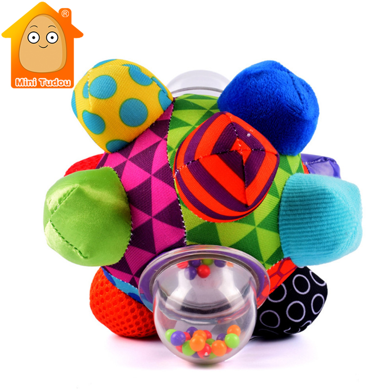 Soft Rattles Ball Toys For Newborns Plush Baby Sensory Toys 0-12 Months Cloth Musical Bed Bell Baby Boy Educational Infant Gift