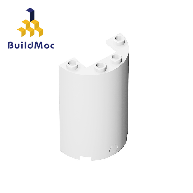 BuildMOC 85941-35312 Cylinder Half 2 X 4 X 5 With 1 X 2 Cutout For Building Blocks Parts DIY LOGO Educational Creative Gift Toys