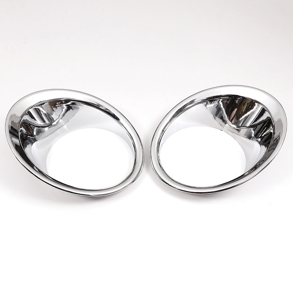 ABS Chrome Front Fog Light Lamp Ring Cover Trim For <font><b>Toyota</b></font> <font><b>Land</b></font> <font><b>Cruiser</b></font> <font><b>Prado</b></font> <font><b>FJ150</b></font> 2014-2017 2pcs Car Accessories image