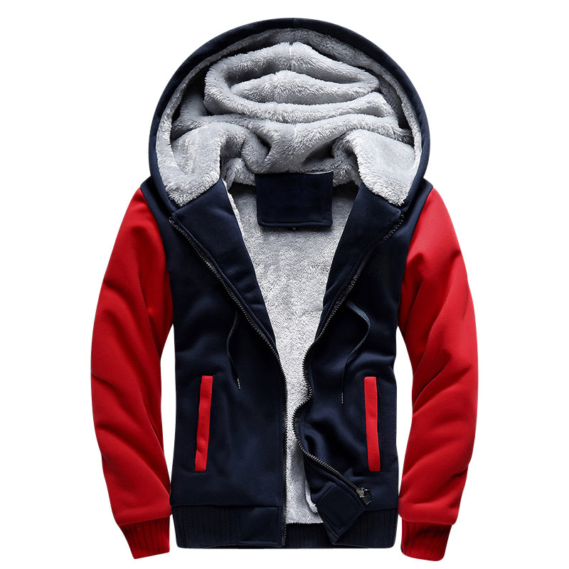 European Fashion Bomber Mens Vintage Thickening Fleece Jacket Autumn - კაცის ტანსაცმელი - ფოტო 2