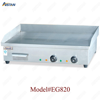 EG818 counter top desk top electric commercial grill griddle machine with grooved for kitchen equipment 2