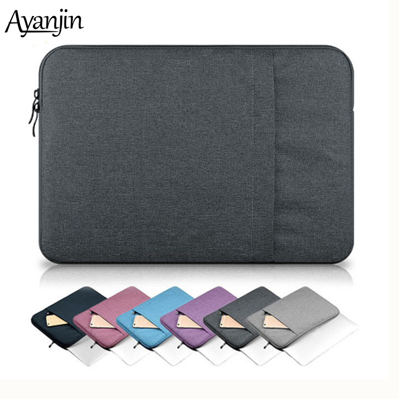 2019 Nylon Laptop Sleeve Bag For Xiaomi New 13 15 Touch Bar A1989 A1990 15.6 Notebook Case For Macbook 11 12 Pro Retina Cover