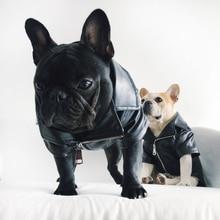 [MPK Dog зимняя одежда] крутая куртка для собак, фланелевая мягкая тканая ткань внутри, полиуретановая кожа снаружи