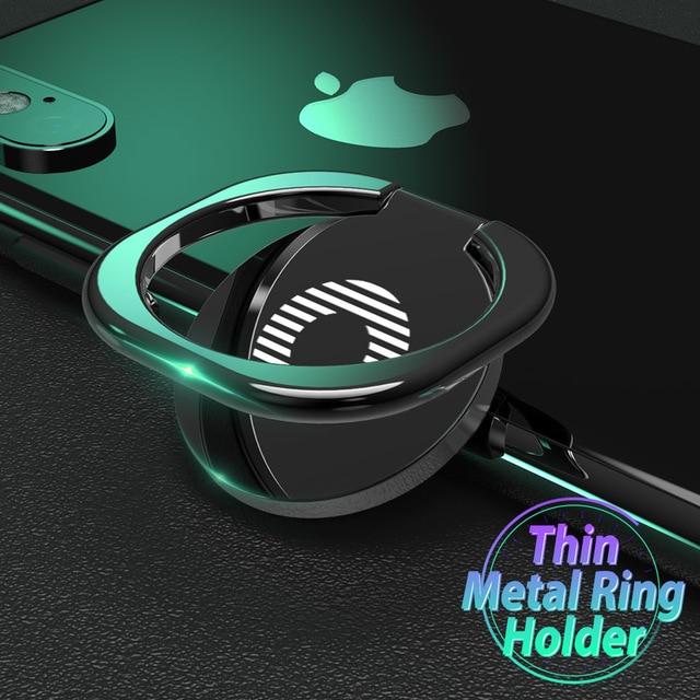 Soporte del anillo del dedo del teléfono móvil para el soporte magnético del teléfono del coche para Huawei P30 Oneplus 7 pro anillo de montaje de la tableta para iPhone XS iPad