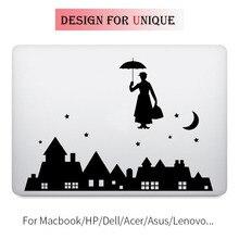 Mary Poppins Laptop Decal Notebook Sticker for Apple Macbook Pro Air Retina 11 12 13 15 inch Vinyl Mac Mi Surface Book Skin