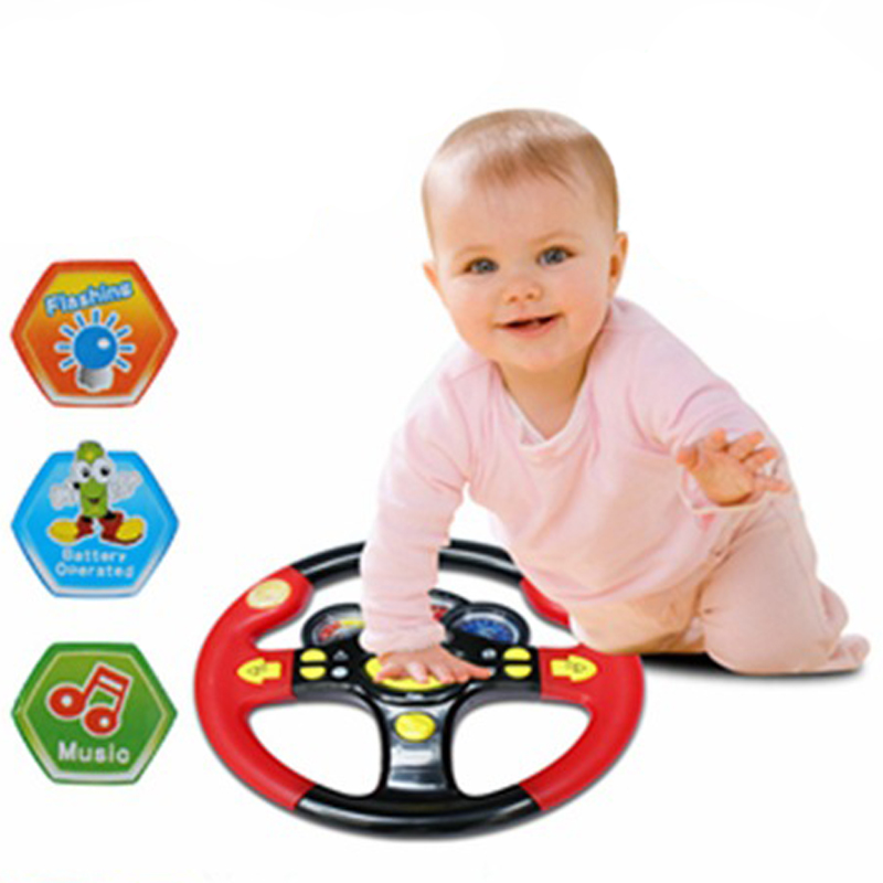 Childrens Steering Wheel Toy Baby Childhood Educational Driving Simulation