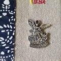 Католические религиозные Подарки Санкт Арка Ангел Святой Михаил Архангел Покровитель Офицер Защиты Медаль Кулон античный посеребренная