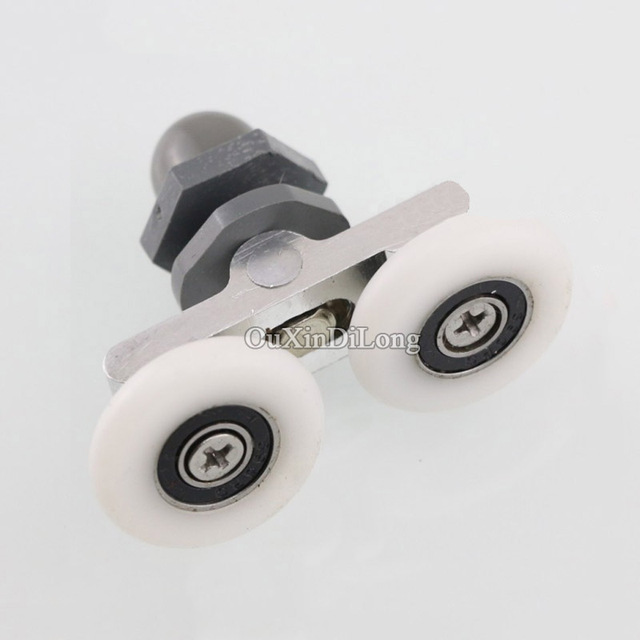 Brand New 8pcslot Double Wheel Swing Sliding Door Rollers Pulleys