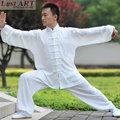 Nuevo chino tradicional elegante informal tai chi ropa de seda de color blanco uniforme tai chi tai chi ropa de moda las mujeres AA032