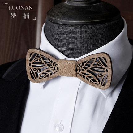 Free ship mens luxury 100% real wooden carved bowtie bow knot tie/bow tie/stage event/stage performance tuxedo bow tie