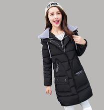 2016 Последние Зимние Женская Мода пуховик С Капюшоном Утолщаются Супер теплый Средней Длины Пальто С Длинным рукавом Slim Большой ярдов Парки NZ334