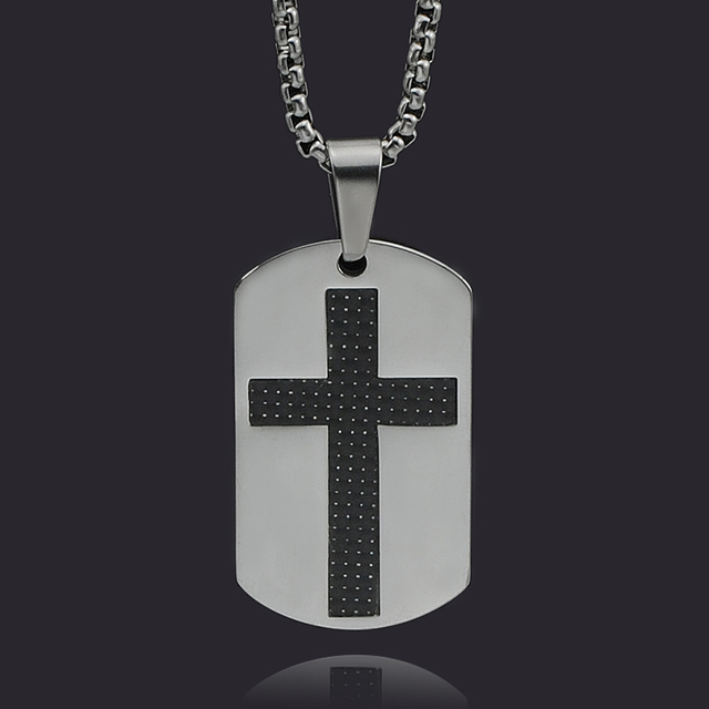 Atgo new classic military stainless steel dog tag men jesus cross atgo new classic military stainless steel dog tag men jesus cross pendant necklace exquisite men gift aloadofball