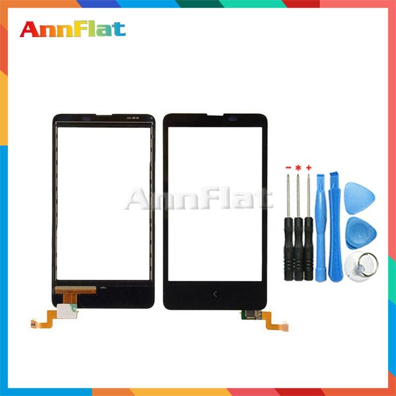 High Quality 4.0 For Nokia X Dual SIM A110 RM-980 Touch Screen Digitizer Front Glass Lens Sensor Panel + Tool