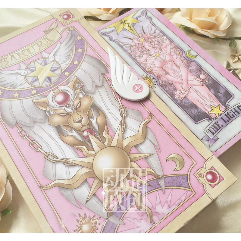 Japan Anime Cardcaptor Sakura 52 Piece Clow Cards + Book SET + The Nothing Card Cardcaptor Cosplay Accessories props