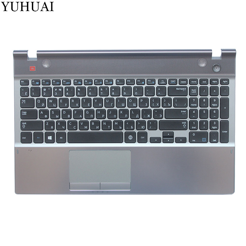 NEW Russian laptop keyboard FOR SAMSUNG 550P5C NP550P5C RU keyboard with touchpad palmrest