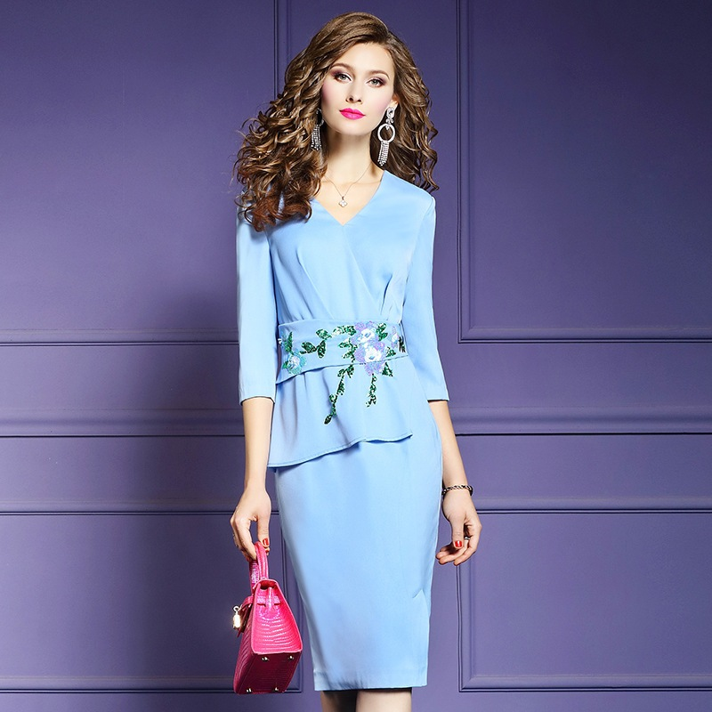 sexy dresses for women 2019 new Spring ladies elegant Party Dress Plus Size sexy office work