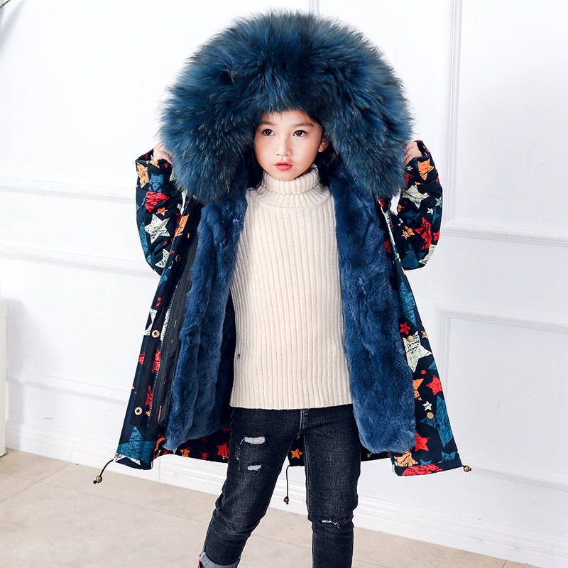 B-5615 New 110-180CM Natural fur coat children Hooded Overcoat female color shell the Rex Rabbit Fur Coat Girl Winter ClothesB-5615 New 110-180CM Natural fur coat children Hooded Overcoat female color shell the Rex Rabbit Fur Coat Girl Winter Clothes