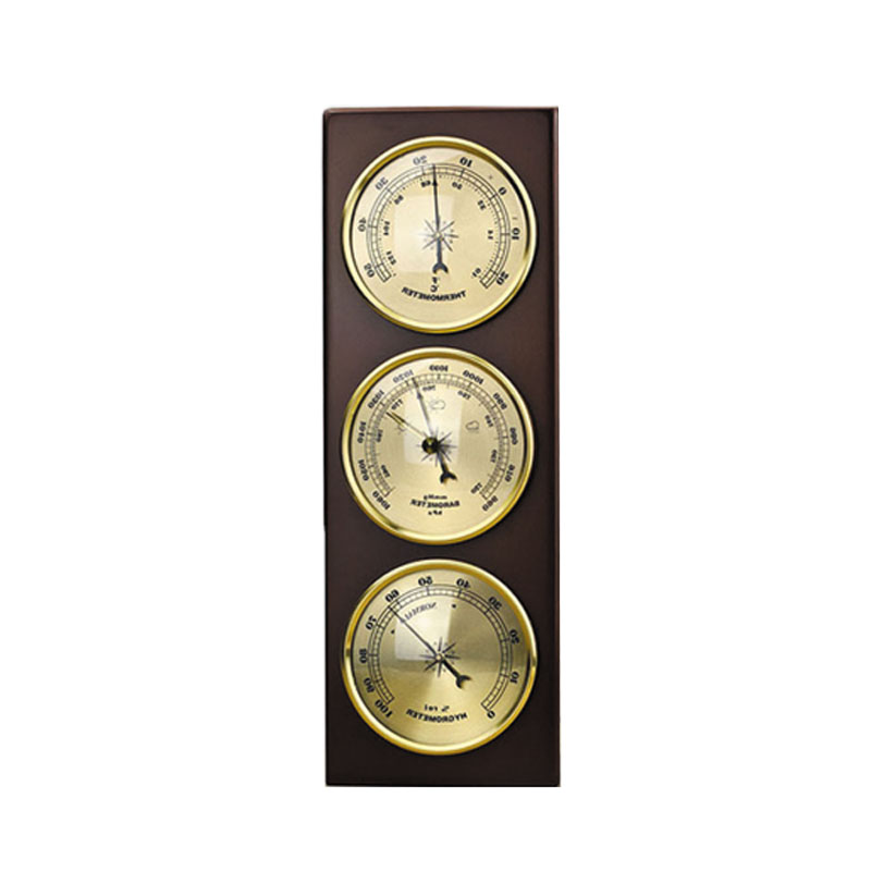 High Quality HouseHold 3Pcs Set Hygrometer Manometer Thermometer Barometer With Wooden Gift Ornaments Weather Station Instrument