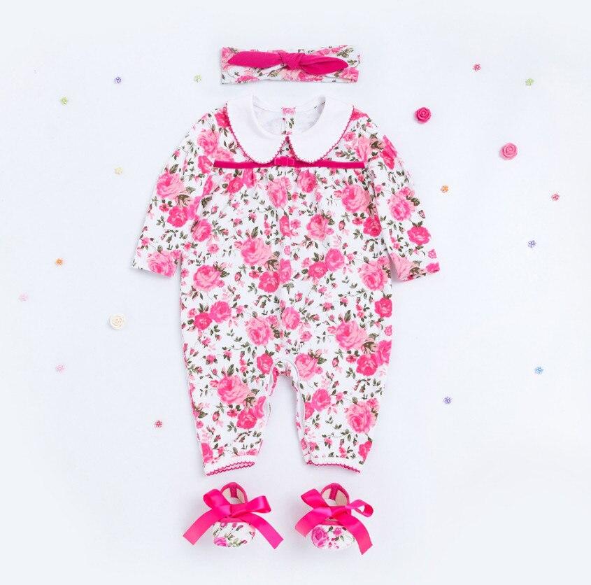 Новый Цветочный для маленьких девочек комбинезон комплект Одежда для младенцев и новорожденных Наборы для ухода за кожей Роза Цветочный пр...