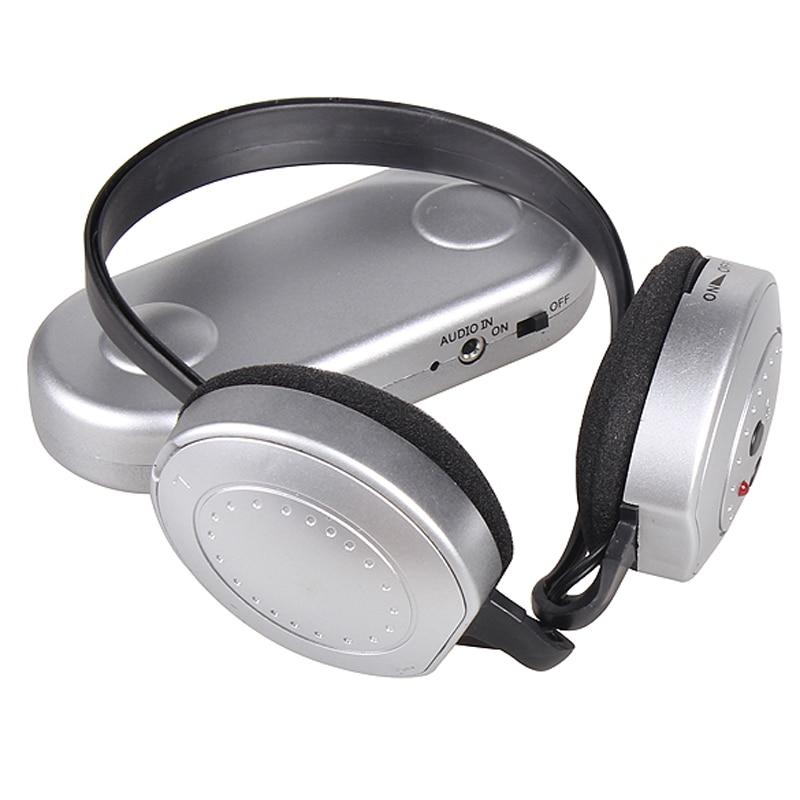 Hi-Fi Wireless Headphones FM Radio Receiver Headset with Transmitter for TV Computer DVD Silver  2016 wireless headphones headset mh2001 mp3 mp4 pc cd dvd audio tv fm radio earphones
