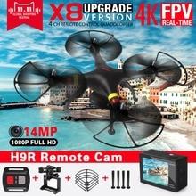 Drone 2.4 Ghz 4 canais com câmera HR9 de resolução 14 MP. Sua tecnologia permite até 10 unidades voar ao mesmo tempo sem interferência uns com os outros. Autonomia de vôo entre 10 e 14 minutos com controle remoto atuando a uma distância de até 140 m.