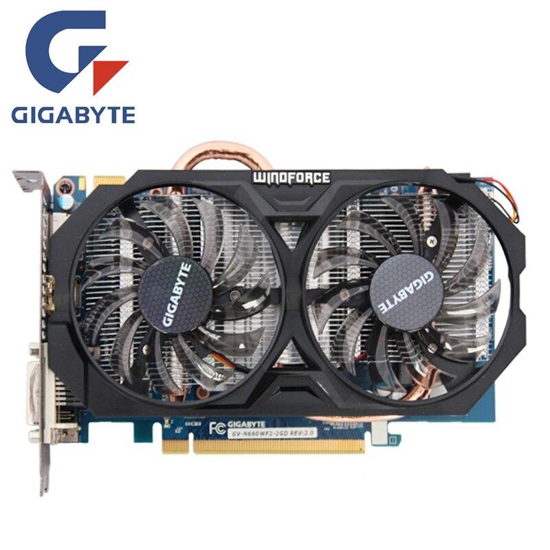 Placa de Vídeo GIGABYTE GV-N660WF2-2GD 192Bit GDDR5 GTX 660 Placas Gráficas para nVIDIA Geforce GTX N660 Rev.2.0 660 Hdmi Dvi Cartões