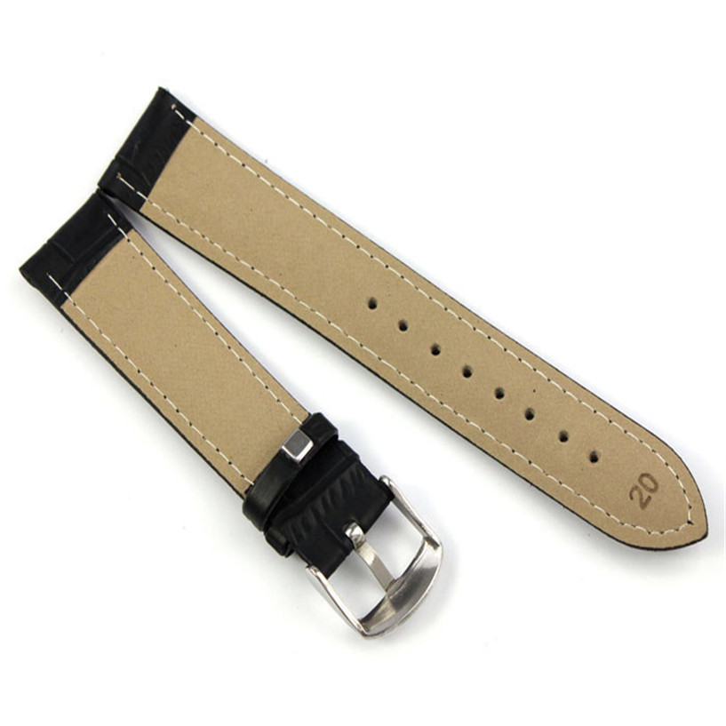 Wristband-watch-2018-good-Quality-Soft-Sweatband-Watchband-Buckle-18-20-22-Faux-Leather-Band-Steel (2)