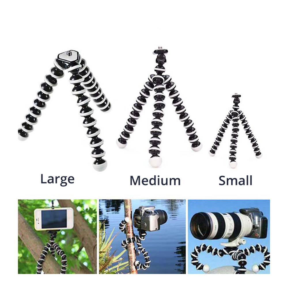 Small Medium Large Octopus Flexible Digital Camera Stand Gorillapod Monopod Mini Tripod with Holder for Gopro