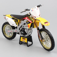 1:12 Scale Newray motorcycle Suzuki RM250 Racing miniature off road dirt collectors motocross Replicas bike Die cast models toy
