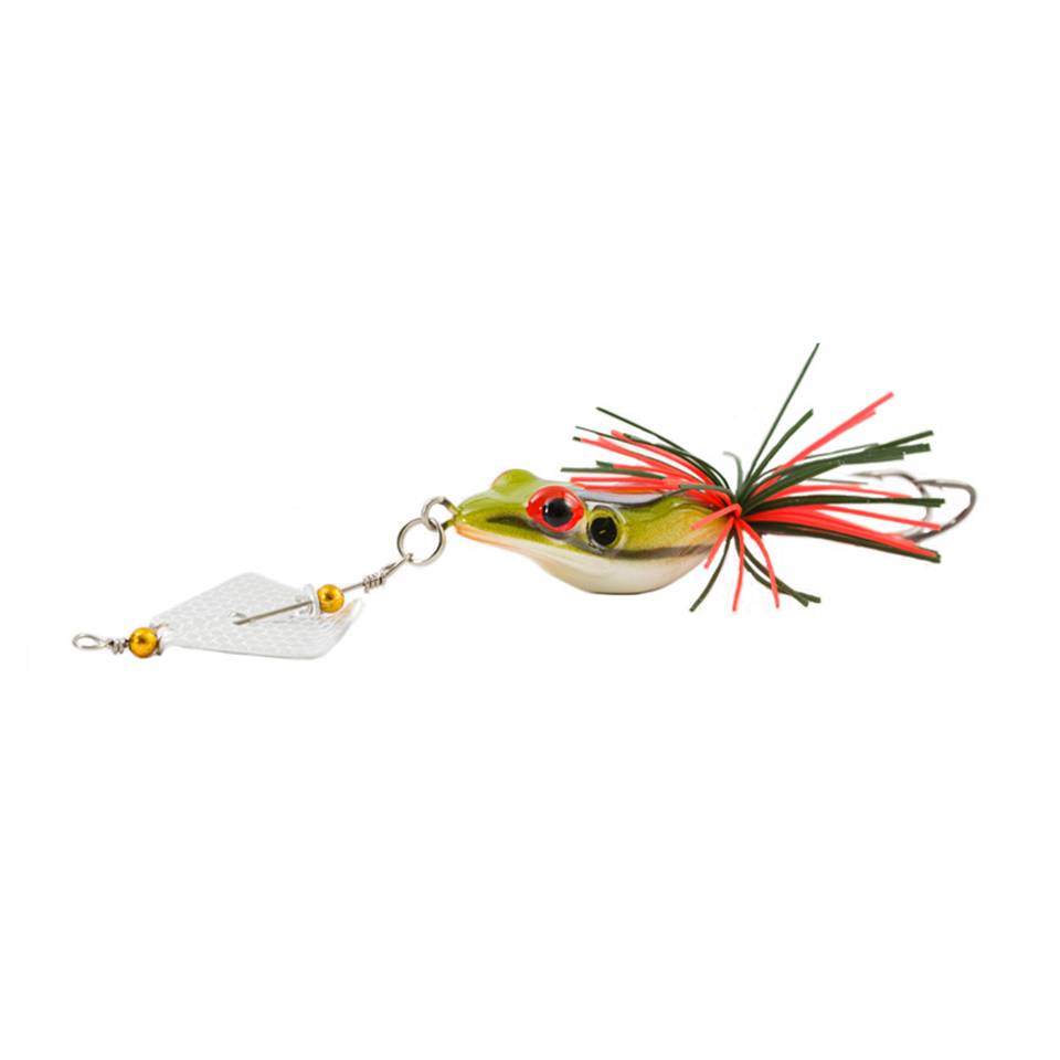 1PCS Iscas Artificiais Pesca Hard Fishing Lure With Large Noise Topwater Isca Frog Lure 140mm 11g Pesca Frog anmuka frog fishing lures kit snakehead lure topwater floating frog baits with box pesca isca artificial