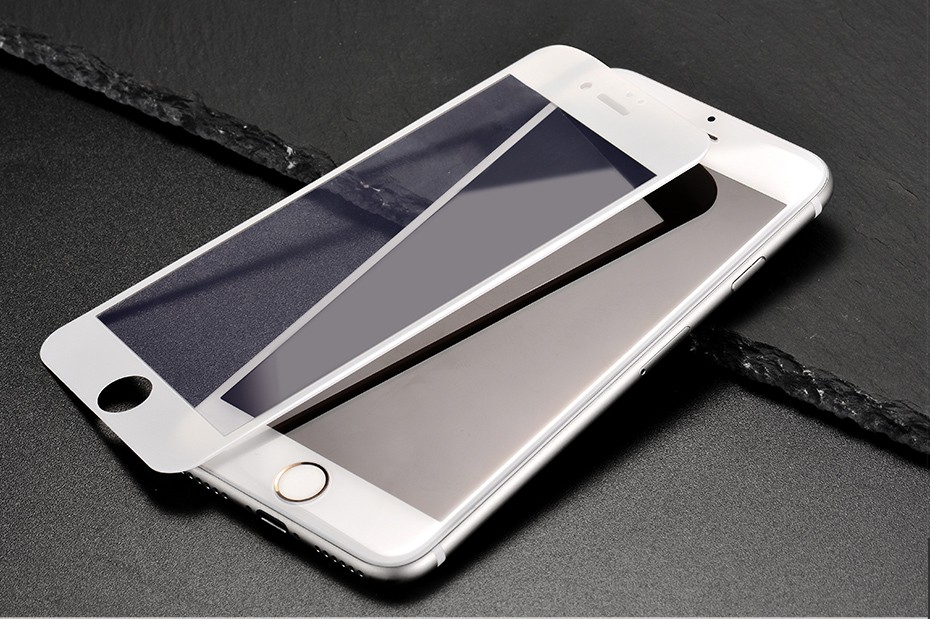 HOCO Full Cover Anti Scratch Glass Film For Apple iphone 6 6S White Black Protective Film For iphone 6 6s plus 3D soft edge_17