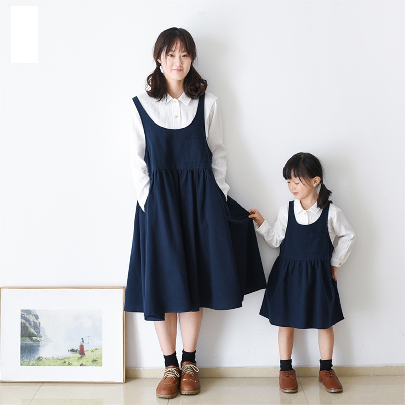 brand new soft cotton casual navy Pregnant women vest skirts family look mom and girls matching clothes mother daughter dresses 2017 summer children clothing mother and daughter clothes xl xxl lady women infant kids mom girls family matching casual pajamas