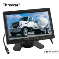 7'' 16:9 HD 1024*600 LCD Color Car Rear View Monitor 2 Video Input DVD Headrest Vehicle Monitor Support Audio Video HDMI VGA