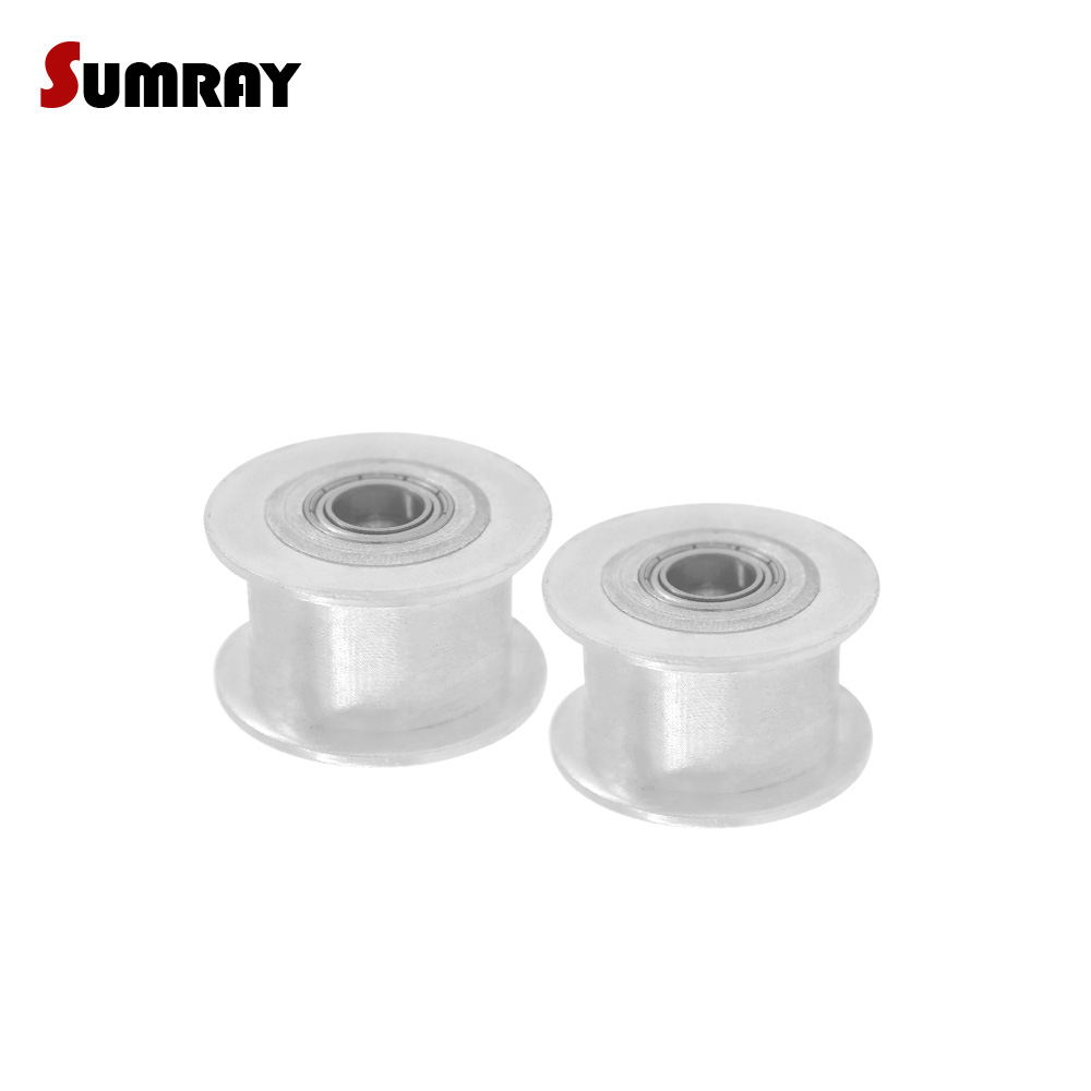 SUMRAY 3M Idler Pulley 16T Without Teeth Bore 3/4/5mm Timing Pulley Wheel 11/16mm Belt Width Tooth Belt Idler Pulley 2pcsSUMRAY 3M Idler Pulley 16T Without Teeth Bore 3/4/5mm Timing Pulley Wheel 11/16mm Belt Width Tooth Belt Idler Pulley 2pcs
