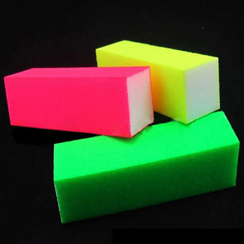 one piece new style buffer nail files fluorescent color. Black Bedroom Furniture Sets. Home Design Ideas