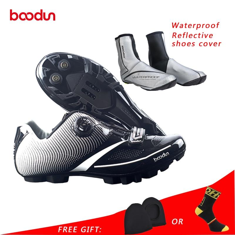 Boodun Breathable Professional Self-Locking Cycling Shoes Bicycle Bike Shoes Non-Slip MTB Bike Racing Shoes Sapatos de ciclismo racmmer cycling gloves guantes ciclismo non slip breathable mens