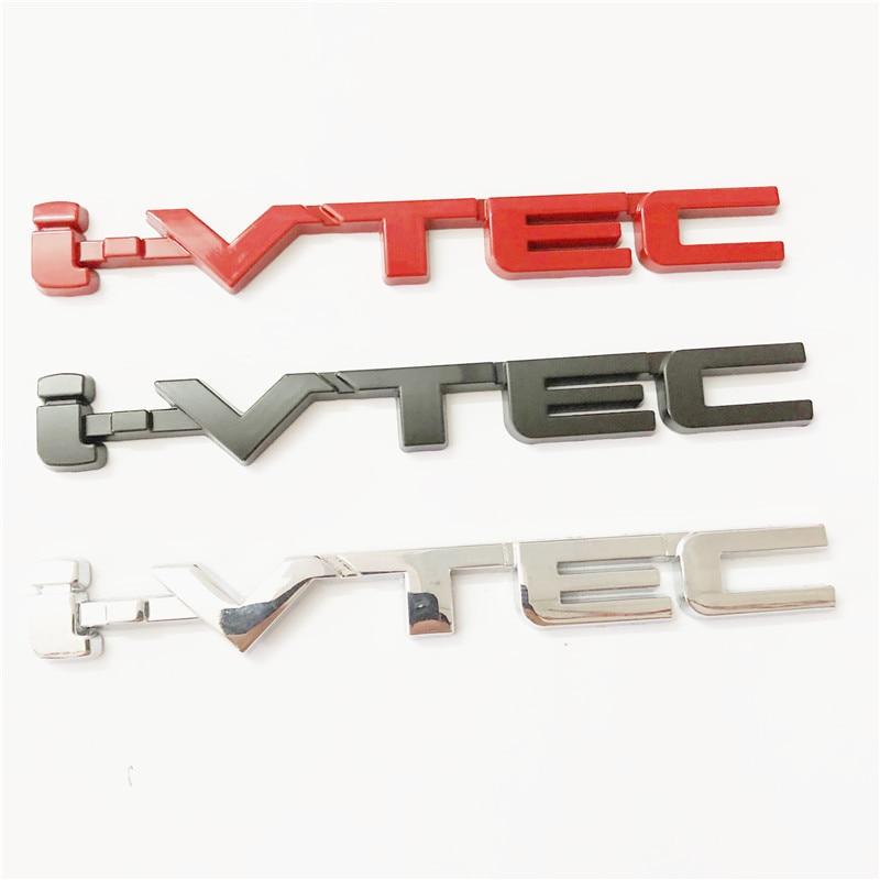 3D Metal Alloy VTEC I-VTEC Emblem Badge Car Sticker Auto Fender Tail Body Decals For Honda Civic Odyssey V6 V8 AWD Accessories