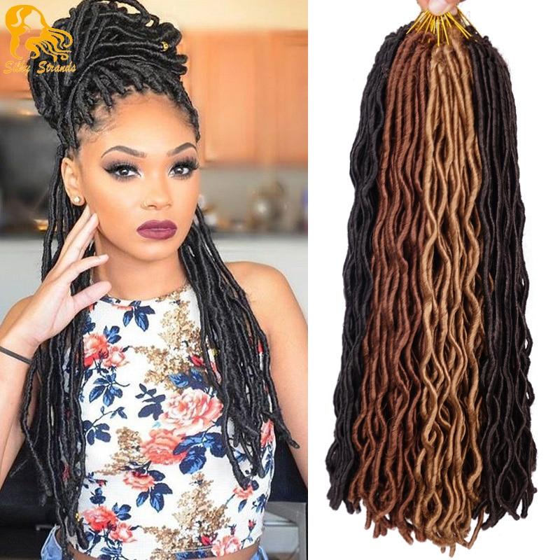 24 Faux Locs Crochet Hair 2x Janet Collection Havana