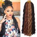 24'' Faux Locs Crochet Hair 2x Janet Collection Havana Mambo Faux Locs 24Roots Wavy Crochet Braids Faux Goddess Locs Extensions