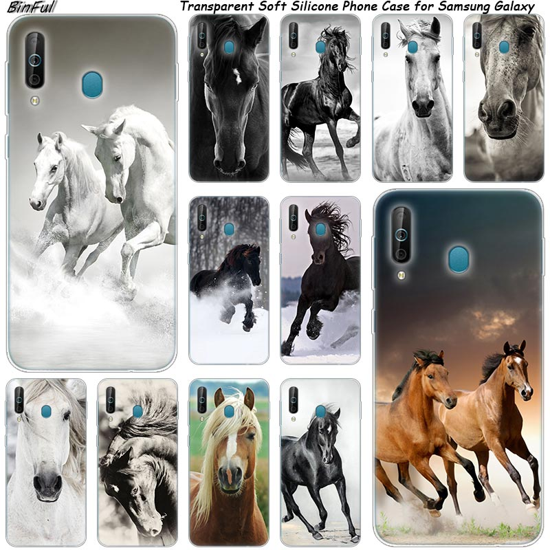 Hot <font><b>Horses</b></font> Running Silicone Phone <font><b>Case</b></font> For <font><b>Samsung</b></font> <font><b>Galaxy</b></font> A80 A70 A60 <font><b>A50</b></font> A40 A40S A30 A20E A2CORE M40 Note 10 Plus 9 8 5 Cover image