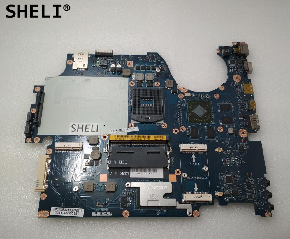 SHELI For Dell 1747 Motherboard with HD4650 LA-5153P CN-0J507P 0J507P J507P sheli for dell 1645 motherboard with hd 4670 1gb da0rm5mb8e0 cn 0y507r 0y507r y507r
