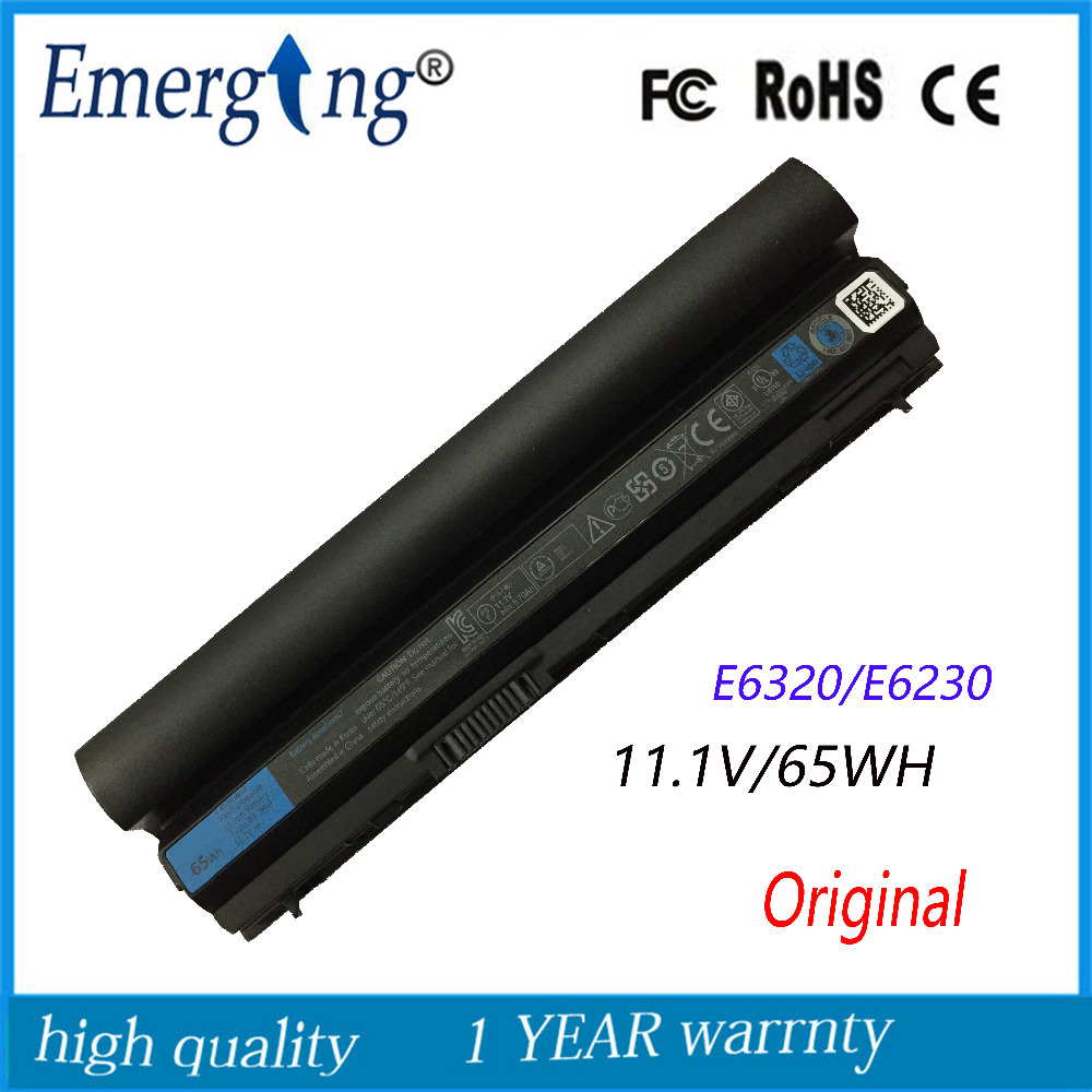 6cells 11.1V 65Wh Original  New  Laptop Battery for Dell Latitude E6120 E6220 E6230 E6320 E6330 E6430S RFJMW 11HYV 3W2YX 5X317 new notebook laptop keyboard for dell latitude e5420 e5430 e6220 e6230 jp japanese layout