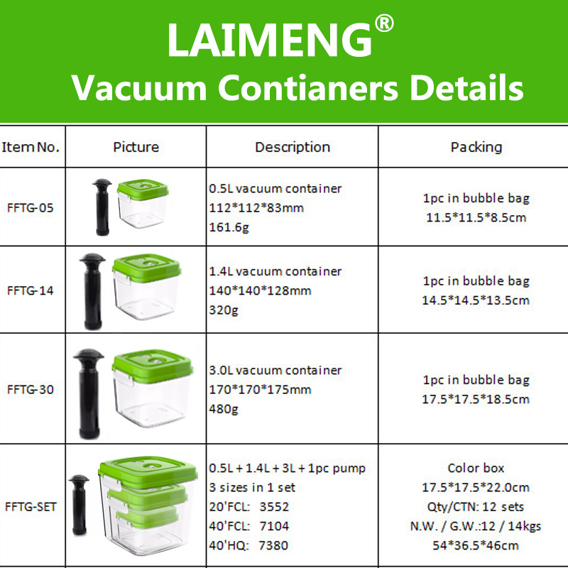 vacuum containers new arrival
