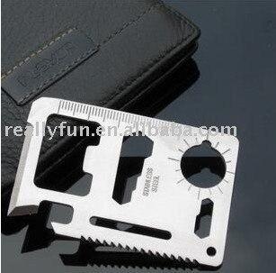6.9*4.5*0.2cm/ Multipurpose Pocket Survival Tool 11 Function Card Knife, Outdoor Survival Multifunction knife